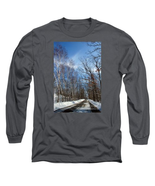 Wisconsin Winter Road Long Sleeve T-Shirt