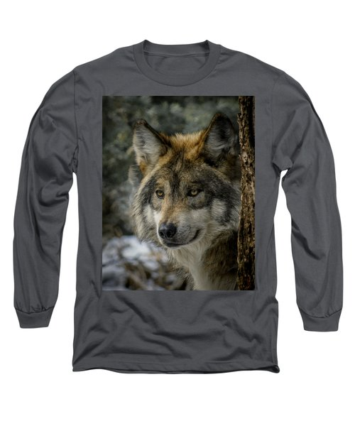 Wolf Upclose 2 Long Sleeve T-Shirt