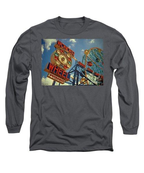 Wonder Wheel - Coney Island Long Sleeve T-Shirt
