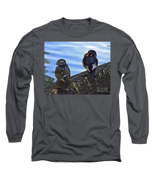 Long Sleeve T-Shirt featuring the photograph Wood You Love Me Forever by Robert Meanor