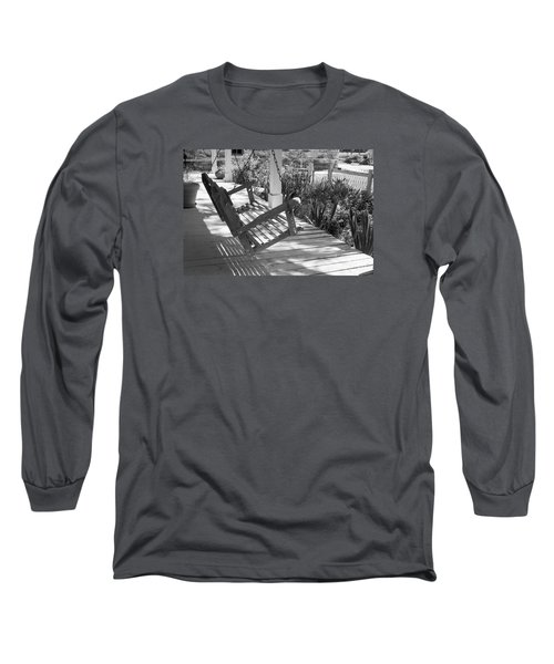 Wooden Front Porch Swing Long Sleeve T-Shirt