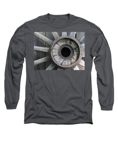 Wooden Wheel Long Sleeve T-Shirt