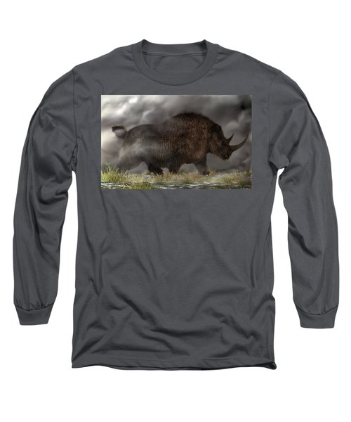 Woolly Rhinoceros Long Sleeve T-Shirt