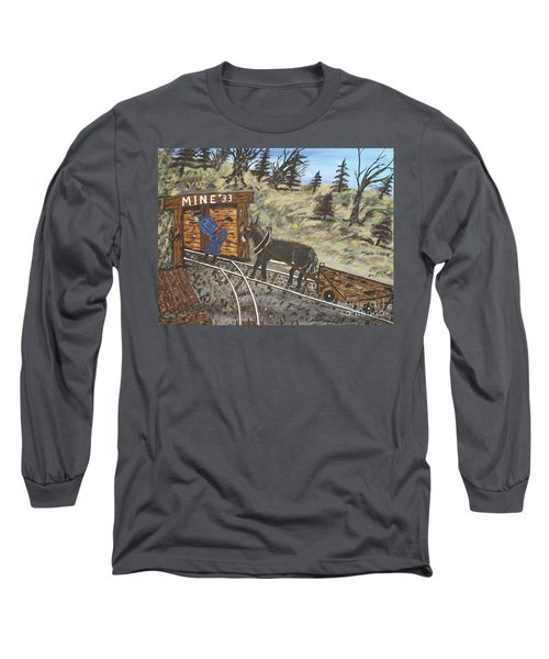 Long Sleeve T-Shirt featuring the painting  The Coal Mine by Jeffrey Koss