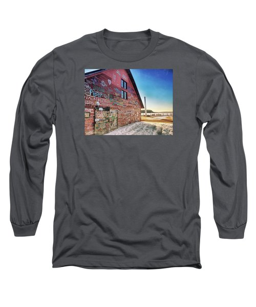 Writing On The Wall Long Sleeve T-Shirt by Luke Collins