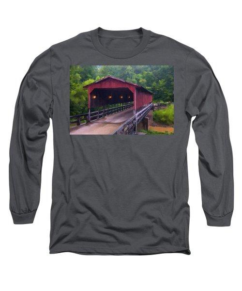 Wv Covered Bridge Long Sleeve T-Shirt