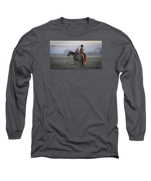 Wyoming Ranch Long Sleeve T-Shirt by Diane Bohna