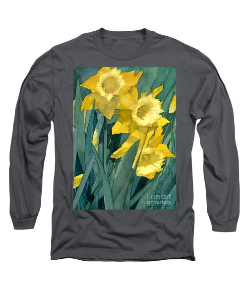 Yellow Daffodils Long Sleeve T-Shirt by Greta Corens