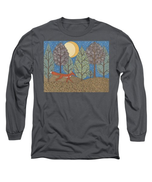 Yellow Moon Rising Long Sleeve T-Shirt