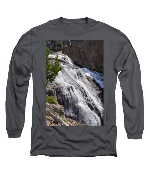 Yellowstone Gibbon Falls Long Sleeve T-Shirt by Jennifer White