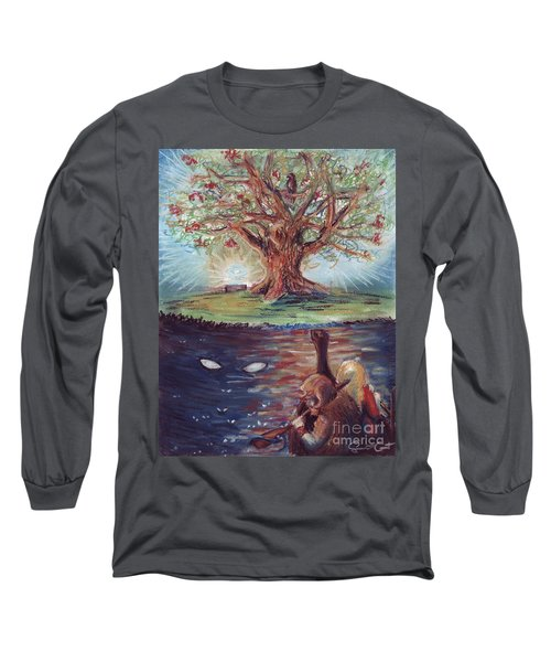 Yggdrasil - The Last Refuge Long Sleeve T-Shirt by Samantha Geernaert
