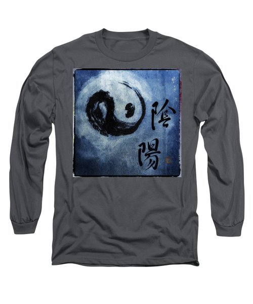 Long Sleeve T-Shirt featuring the photograph Yin  Yang Brush Calligraphy by Peter v Quenter