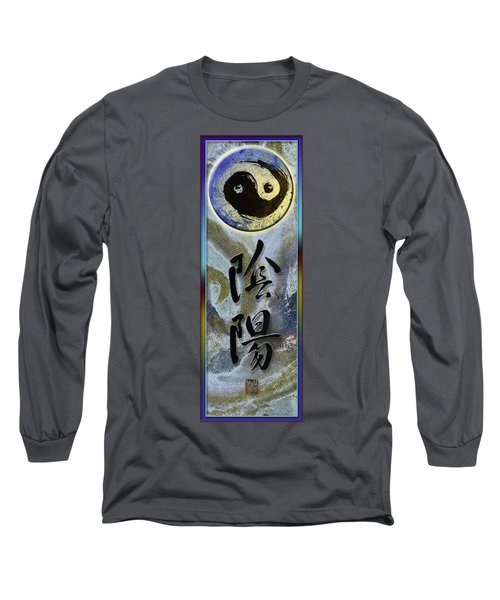 Yinyang Brush Calligraphy With Symbol Long Sleeve T-Shirt