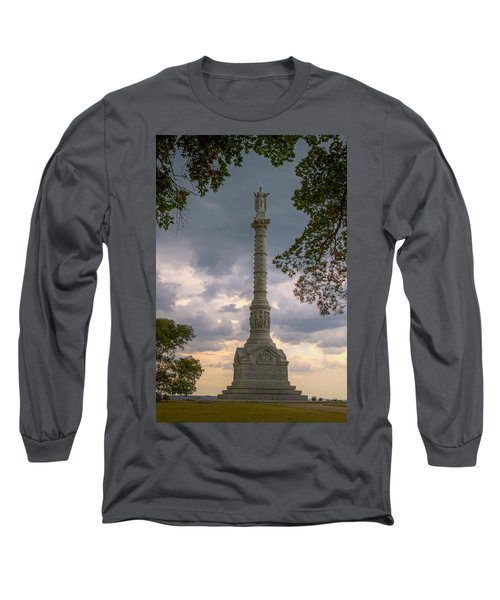 Yorktown Victory Monument Long Sleeve T-Shirt by Jerry Gammon