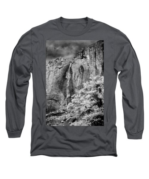 Long Sleeve T-Shirt featuring the photograph Yosemite Falls by Mark Greenberg