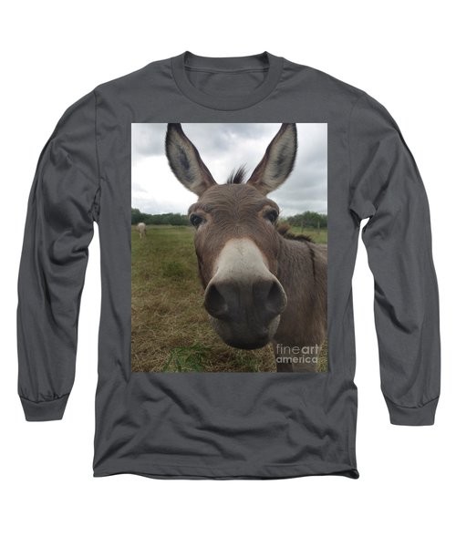Long Sleeve T-Shirt featuring the photograph You Looking At My Woman by Peter Piatt