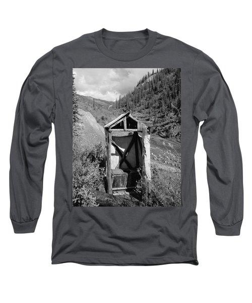 Yukon Alaska Outhouse Long Sleeve T-Shirt