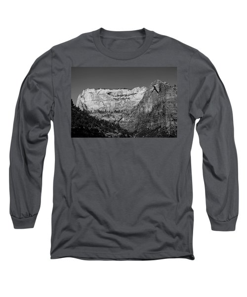 Zion Cliff And Arch B W Long Sleeve T-Shirt