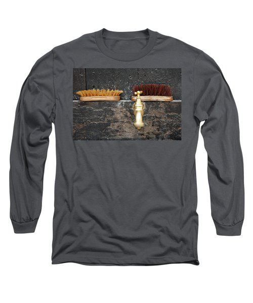 Long Sleeve T-Shirt featuring the photograph Zuiderzee Brushes by KG Thienemann