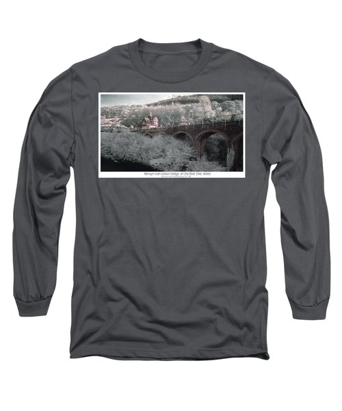 Infrared Train Station Bridge Long Sleeve T-Shirt