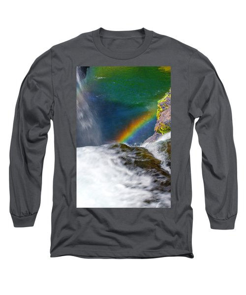 Rainbow By The Waterfall Long Sleeve T-Shirt