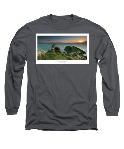Sunset At South Stack Lighthouse Long Sleeve T-Shirt