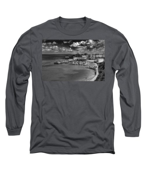 Long Sleeve T-Shirt featuring the photograph Tenby Harbour by Steve Purnell