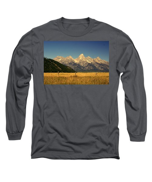 Long Sleeve T-Shirt featuring the photograph Tetons 3 by Marty Koch