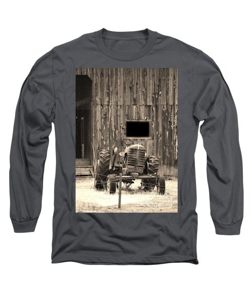 Tractor And The Barn Long Sleeve T-Shirt