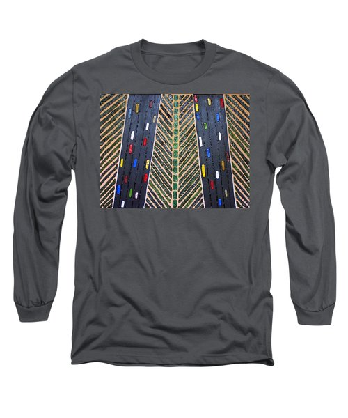 Long Sleeve T-Shirt featuring the mixed media Traffic by Cynthia Amaral