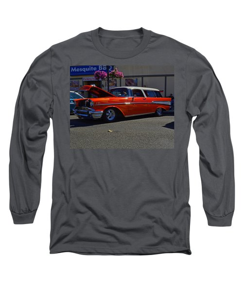 Long Sleeve T-Shirt featuring the photograph 1957 Belair Wagon by Tikvah's Hope