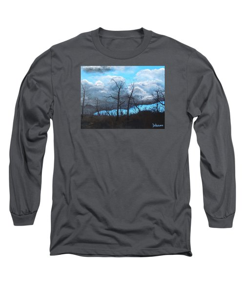 Long Sleeve T-Shirt featuring the painting A Cloudy Day by Dan Whittemore