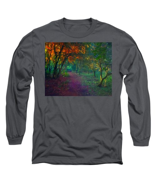 Long Sleeve T-Shirt featuring the painting A Place Of Mystery by Joe Misrasi