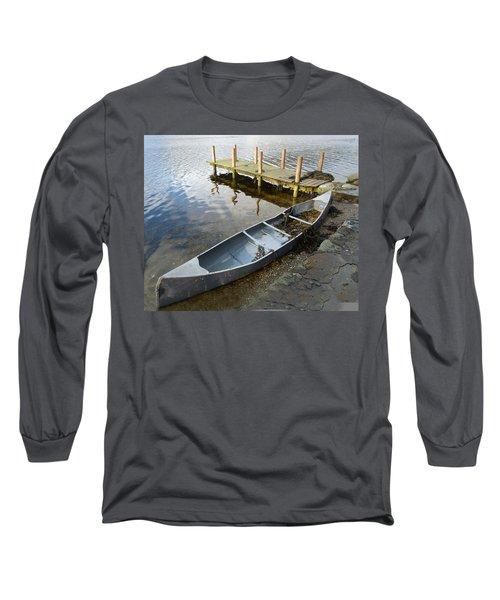 Long Sleeve T-Shirt featuring the photograph Abandoned Canoe by Lynn Bolt
