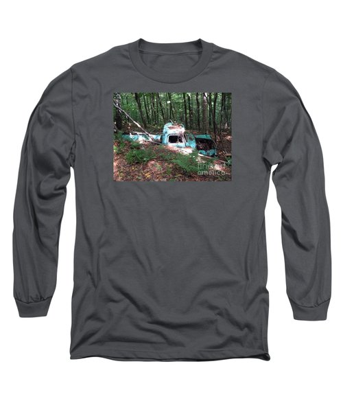 Abandoned Catskill Truck Long Sleeve T-Shirt by Kathryn Barry