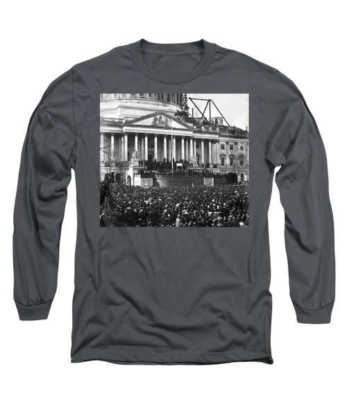 Long Sleeve T-Shirt featuring the photograph Abraham Lincolns First Inauguration - March 4 1861 by International  Images