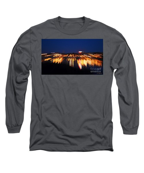 Abstract - City Lights Long Sleeve T-Shirt by Sue Stefanowicz
