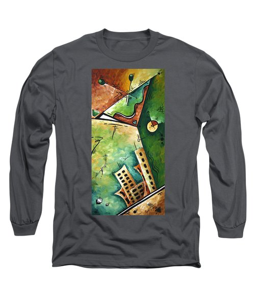 Abstract Martini Cityscape Contemporary Original Painting Martini Hour By Madart Long Sleeve T-Shirt