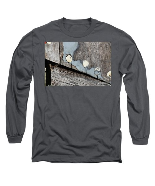 Abstract With Blue Long Sleeve T-Shirt