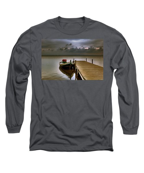 Albufera Before The Rain. Valencia. Spain Long Sleeve T-Shirt