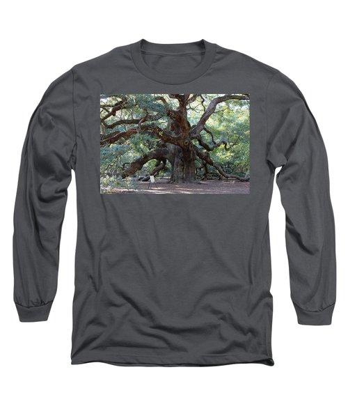 Angel Oak - Dont Climb Or Carve On The Tree Long Sleeve T-Shirt