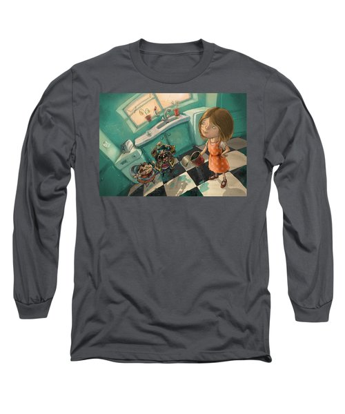 Angry Pirates Long Sleeve T-Shirt by Andy Catling