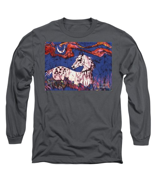 Appaloosa In Flower Field Long Sleeve T-Shirt