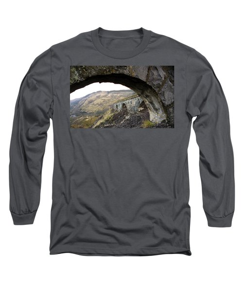 Arches And Mountains Long Sleeve T-Shirt by Steve McKinzie