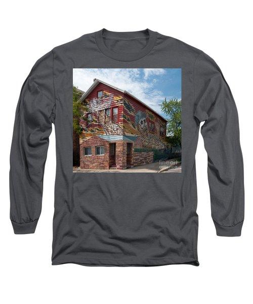 Art House South Chicago Mural Long Sleeve T-Shirt by Loriannah Hespe