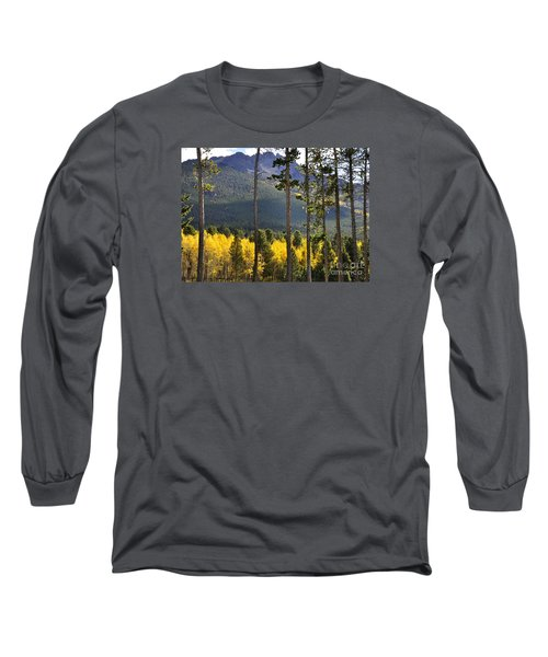 Long Sleeve T-Shirt featuring the photograph Aspen Heaven Long's Peak Area by Nava Thompson