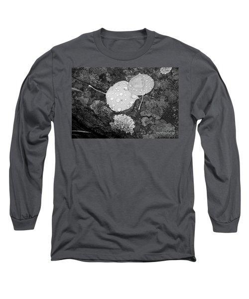 Aspen Leaves In The Rain Long Sleeve T-Shirt