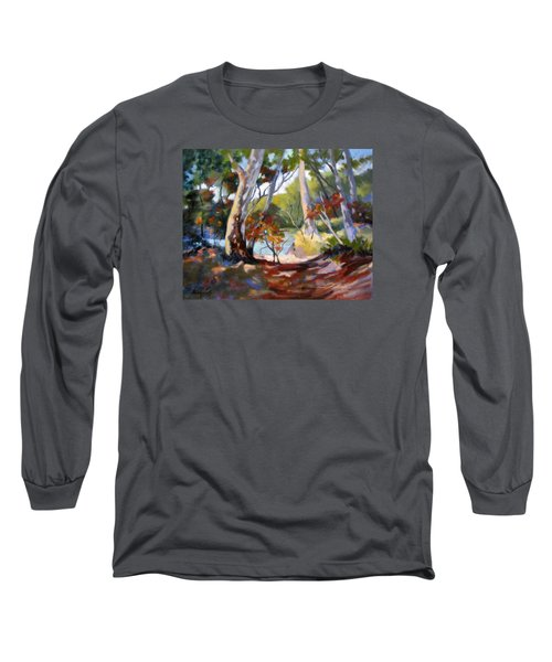 Long Sleeve T-Shirt featuring the painting Australia Revisited by Rae Andrews