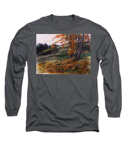 Long Sleeve T-Shirt featuring the painting Autumn Intensity by John Williams