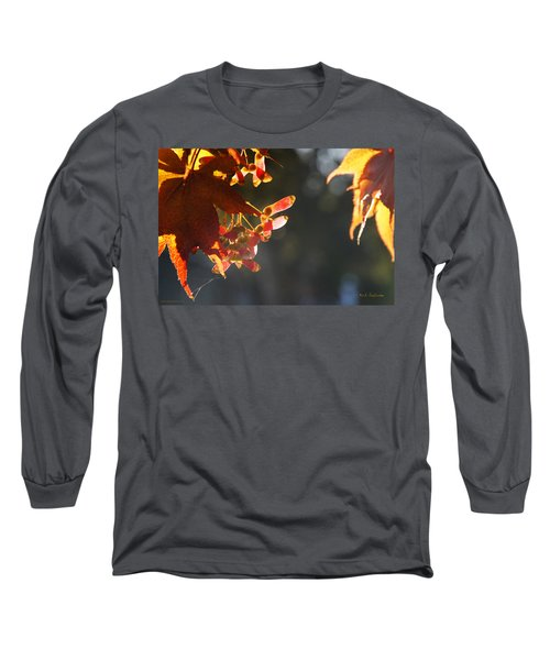 Autumn Maple Long Sleeve T-Shirt by Mick Anderson